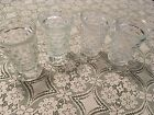 Four Indiana Glass Whitehall Clear Footed Water or Tea Goblets