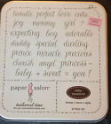Paper Salon Stamp Set baby equations NEW