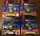 Marvel Mini Mates Spiderman Lot Of 4 Packs New Unopened Peter Parker