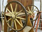 Antique Wagon Wheels Wooden Spokes with Metal Axle