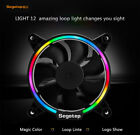Computer Case Cooler PC Cooling Fan RGB LED 120mm Quiet Radiator 4 Pin SEGOTEP