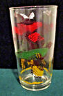 6 VINTAGE 10 oz HUNTING RING NECK PHEASANT HAZEL ATLAS DRINKING GLASSES