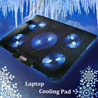 Laptop Notebook Cooling 5 Fan USB Cooler Pad 11 17 Computer PC Chill LED Mat P1