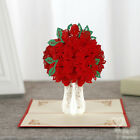 3D POP UP GREETING CARD FLOWERS ROSES FATHERS DAY ANNIVERSARY GIFT FOR DAD