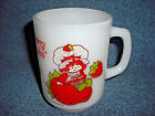 ANCHOR HOCKING FIRE KING STRAWBERRY SHORTCAKE WHITE MILK GLASS COFFEE CUP MUG
