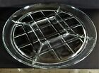 Heavy Clear Glass 5 Part Round Divided Relish Plate/Dish Approx. 11 7/8