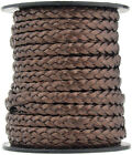 Xsotica Flat Braided Leather Cord 5mm 1 Yard