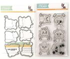 Simon Says Stamp Critter Costume Party Clear Stamps  Dies Set Cat Dog Panda