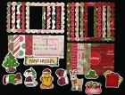 Christmas holiday Santa 30 lot Embellishment die cut frame scrapbooking card