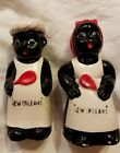 Vintage Black African American Couple Salt And Pepper Shakers New Orleans