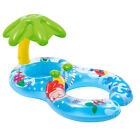 Baby Inflatable With Sunshade Coconut Tree Swim Ring Pool Toy Floating Boat Toy