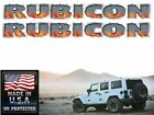 Rubicon Hood decals stickers Torched Diamond Plate 2 pc set Jeep wrangler