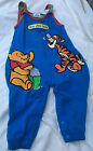 Disney Store Pooh  Tigger romper Poohs Silly Circus 18 month Blue 100 Cotton