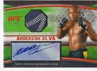 Anderson Silva 2010 Topps UFC Knockout Autographed Fight Gear Relic Auto 88