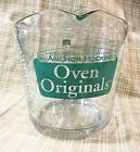 Vintage Anchor Hocking 4 Cup 32 Ounce Quart Glass Measuring Cup Green Print Rare