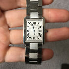 AUTH CARTIER 3169 TANK SOLO LARGE STAINLESS STEEL WATCH