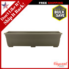 24 in x 6 in Plastic Green Window Planter Box Window Sill Flower Pot Bed Boxes