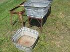 old galvanized Square Wash Tub     LOCAL PICK-UP ONLY  * OHIO