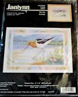 1998 Avocet WADING BIRD at the Beach Counted Cross Stitch Kit 11 x 15