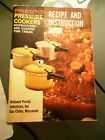 Instruction Guide for Presto Pressure Cooker Instructions & Recipes, Pre-owned