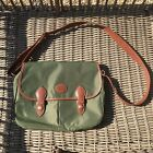 Authentic Longchamp Messenger Bag Green With Brown Leather Trim VGC