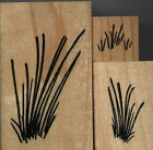 mounted rubber stamps Grass set of 3 stamps