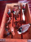 Vintage 1970s Large Lot Folkart Hand Carved Birds. Crossley