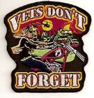 VETS DONT FORGET EMBROIDERED BIKER PATCH