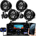 Motorcycle Bluetooth Wireless 4 Speaker Audio System Stereo MP3 ATV UTV Scooter