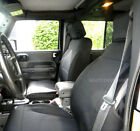 Jeep Wrangler Sahara JK 2007 16 Neoprene Front Rear Black Seat Cover 2 Door no2d