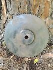 Vintage Industrial Cast Iron Gear Sprocket Wheel Steampunk Lamp Base 14 3/4