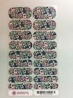 M82 Jamberry Negative Space Full sheet Funky Fresh Flowers on clear