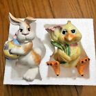 Fitz  Floyd SALT  PEPPER Shakers Eggscapades Easter Chick  Rabbit Bunny NEW