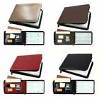 7 Ring Business Check Book Binder 3-on-a-page Zippered Leather Look 12 Colors