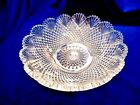 VINTAGE LARGE HEAVY CRYSTAL CUT GLASS BOWL - EXCELLENT CONDITION