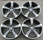 SET4 RS TYPE 20 20X9 5X112 WHEELS RIMS FIT AUDI A8 A4 S4 A5 A7 A6 Q5 RS4 RS6