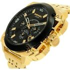 New DIESEL DZ7378 Chronograph Black Dial Gold Tone Men's Watch With Box $375