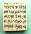 Rare  BEAUTIFUL  INSPIRATIONAL QUOTES about LOVE  Rubber Stamp Retired NEW