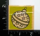 Christmas Ornament By Vap Scrap Holiday Card Making Paper Craft Rubber Stamp