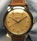 Vintage Movado Automatic Gold Cap Stainless Steel Wristwatch