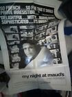 RARE 60s VTG FRENCH NEW WAVE POSTER MY NIGHT AT MAUDS ERIC ROHMER