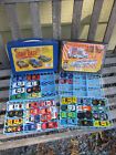 Matchbox  Tara Toy Carry Cases w Vtg Lot of 34 Diecast Numbered Cars