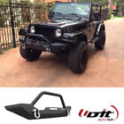 Fit 1986 2006 Jeep Wrangler TJYJ Texture Black Front Bumper With two D Rings