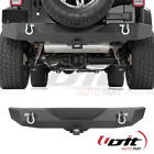 Fit 1986 2006 Jeep Wrangler TJYJ Texture Black Rear Bumper With two D Rings