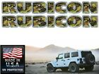 Jeep Rubicon Hood decals stickers Camo 2 pc set