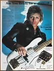 The Cars Benjamin Orr Kahler APM Single Page Magazine Print Ad 1984 Bass Guitar