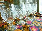 LE L.E.  Smith Moon and Stars Small Goblets CLEAR Claret wine 4 3/4