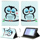 """US For 7"""" -10.1"""" Tablets PC Sleep Owl Pattern Universal PU Leather Case Cover"""