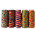 5pcs Rainbow Color Sewing Thread Hand Quilting Embroidery Sewing Thread H1