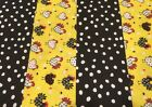 5 chicken and dots quilt quilting cotton yellow black kit charms 5 squares 32